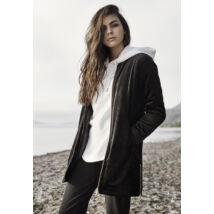 Női bársony kabát