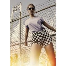 Kockás női short
