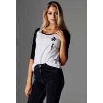 Fekete-fehér női póló