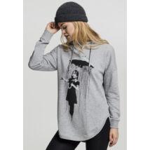 Banksy umbrella női kapucnis pulóver