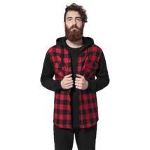 Kapucnis férfi flanell kabát