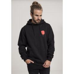 Fekete férfi kapucnis pulóver