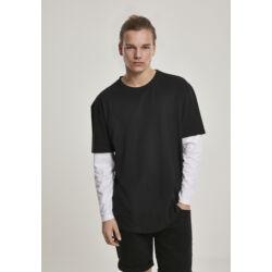 Nagyméretű dupla rétegű hosszúujjú póló