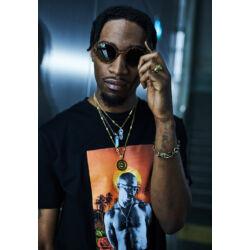 """Tupac Sunset Collage"" férfi póló"