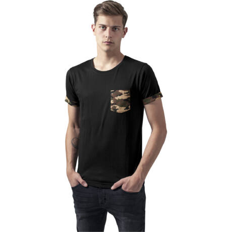 Terepmintás zsebes férfi póló