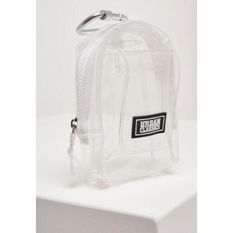 Átlátszó mini táska karabínerrel