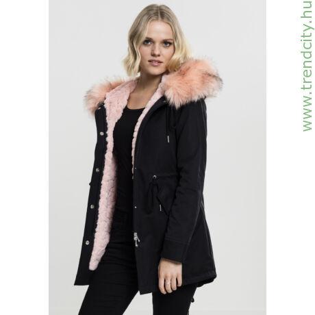 Női teddy kapucnis kabát