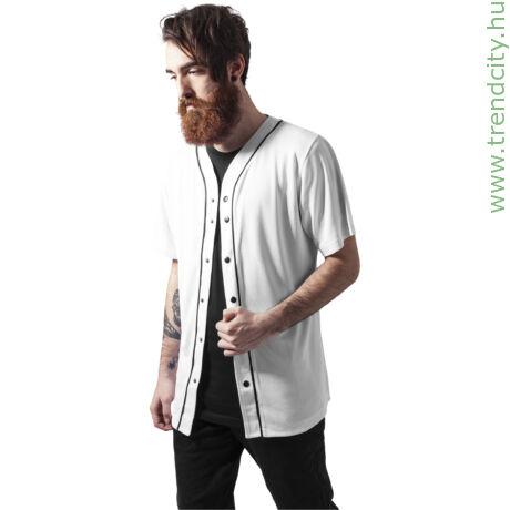 Baseball stílusú férfi V-nyakú póló