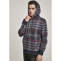 Kockás kapucnis pulóver