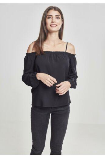 Női fekete hosszú ujjú póló
