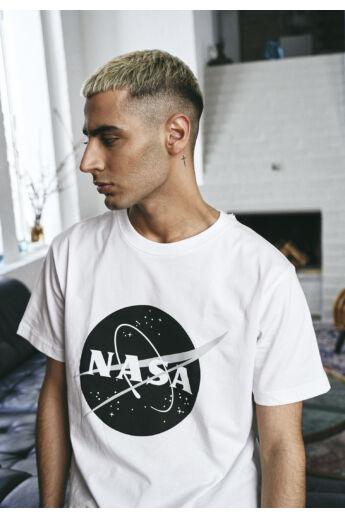 NASA fekete fehér mintás póló