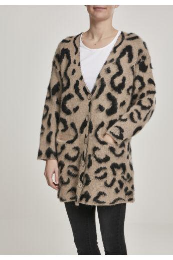 Leopárdmintás pulóver