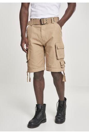 Férfi bézs vintage rövidnadrág