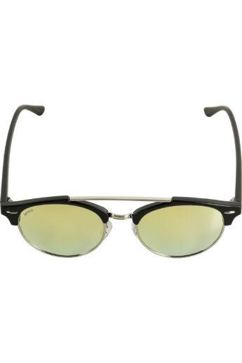 Divatos fekete-aranysárga napszemüveg