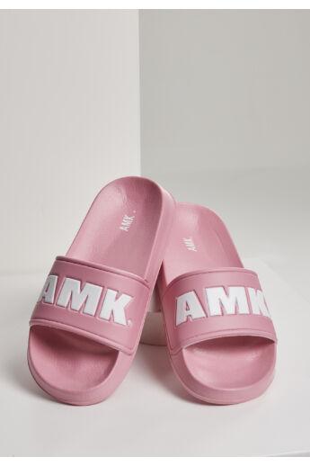 Pink-fehér strandpapucs