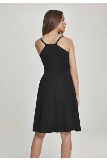 Fekete spagettipántos ruha