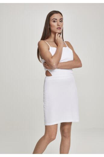 Spagettipántos fehér ruha
