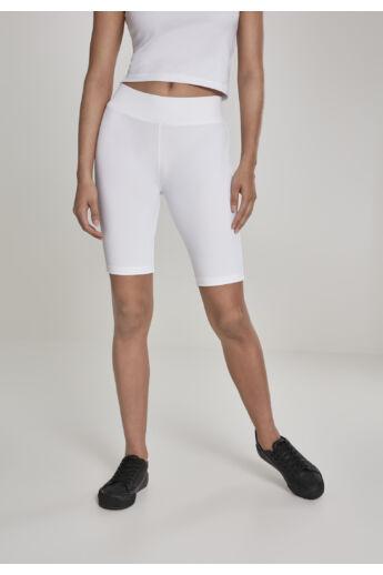 Fehér kerékpáros rövidnadrág