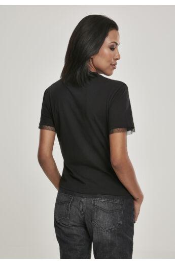 Női póló, fekete
