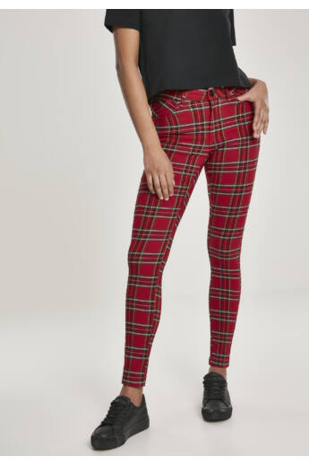 Kockás női nadrág