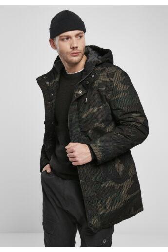 terepmintás divatos téli kabát