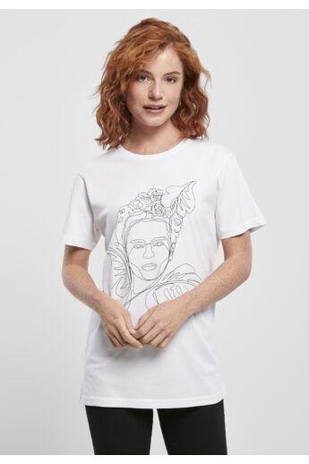 Frida Kahlo női nyomott mintás póló