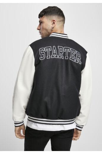 Fekete egyetemi stílusú férfi kabát