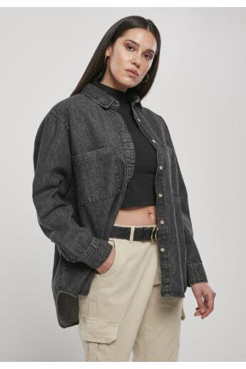 Női fekete farmer ing