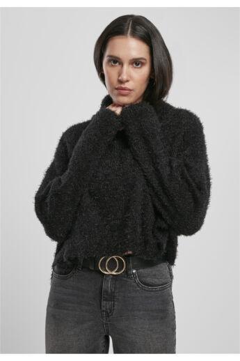 divatos kötött női pulóver