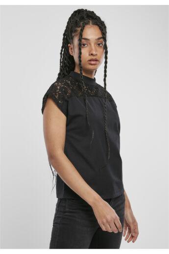 női csipkebetétes női póló