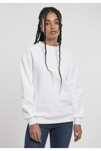 Organikus pamut fehér női pulóver