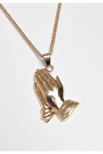 Arany színű imádkozó kezek nyaklánc