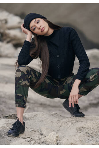 Divatos terepszínű női nadrág