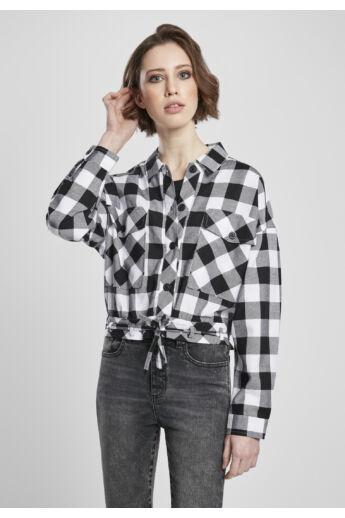 Rövid kockás női ing