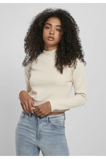 Rövid homok színű női pulóver