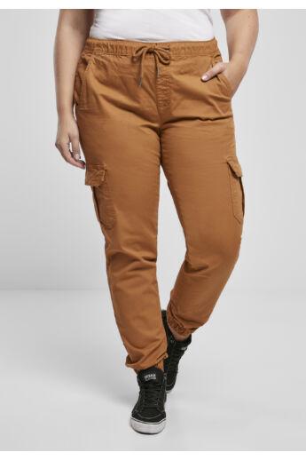Női barna zsebes nadrág