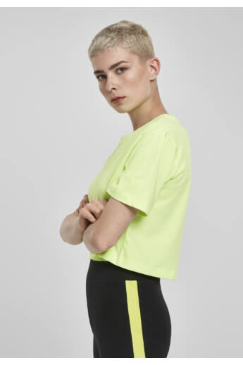 Túlméretes, rövid, neon női póló