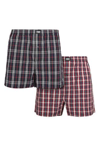 Férfi piros-kék boxer alsónadrág