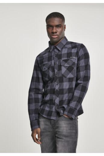 kockás flanel divatos férfi ing