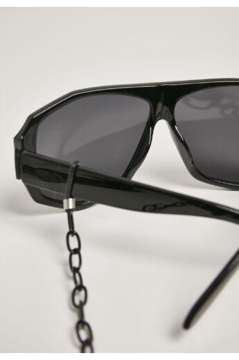 Szögletes napszemüveg lánccal