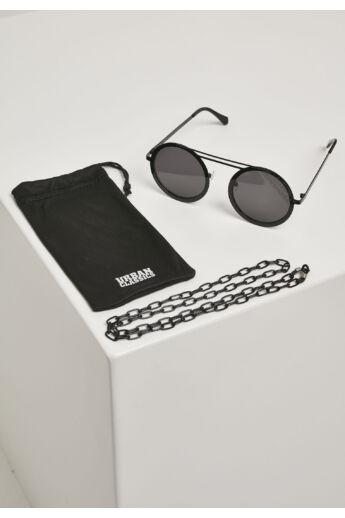 Fekete bohém napszemüveg lánccal