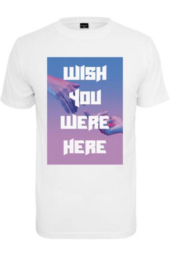 Wish you were here mintával nyomott póló