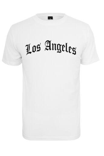 Los Angeles mintás nyomott fehér férfi póló