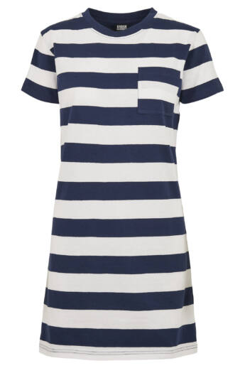 Kék-fehér csíkos ruha