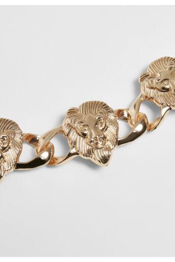 Oroszlános divat karkötő, aranyszínű
