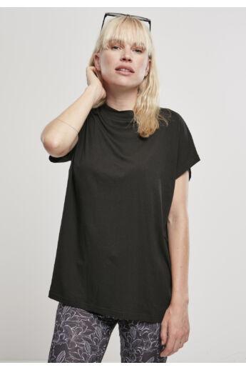 Női pamut póló, fekete