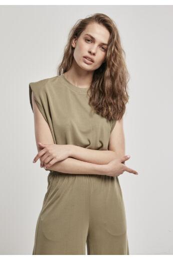 Divatos khaki színű női póló