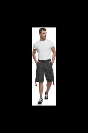 Férfi sötét szürke vintage rövidnadrág