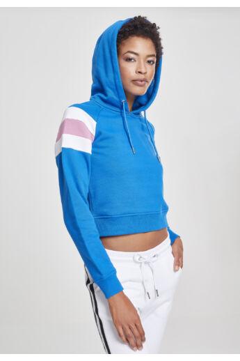 kapucnis női rövid pulóver