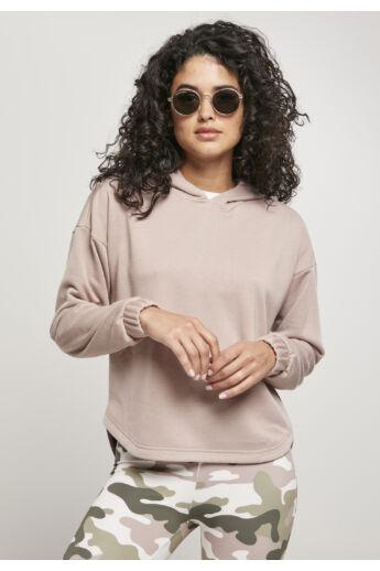 Női túlméretes kapucnis pulóver, rózsaszín